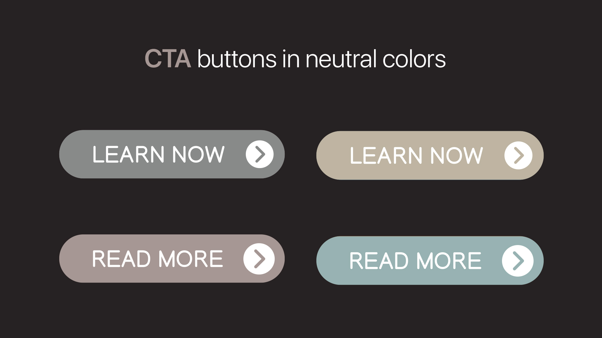 CTA buttons with neutral colors in the background