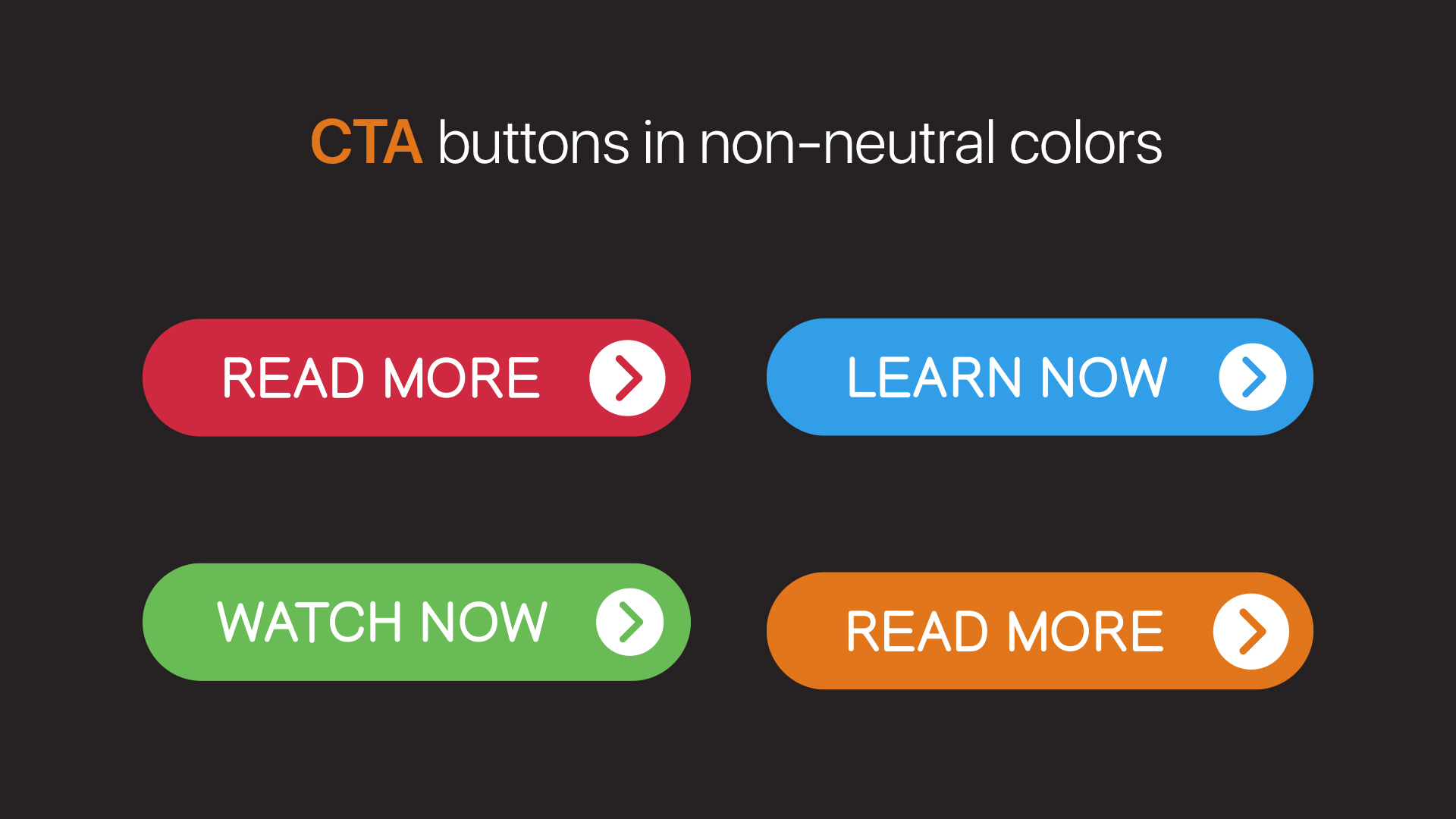 CTA buttons with non-neutral colors as background